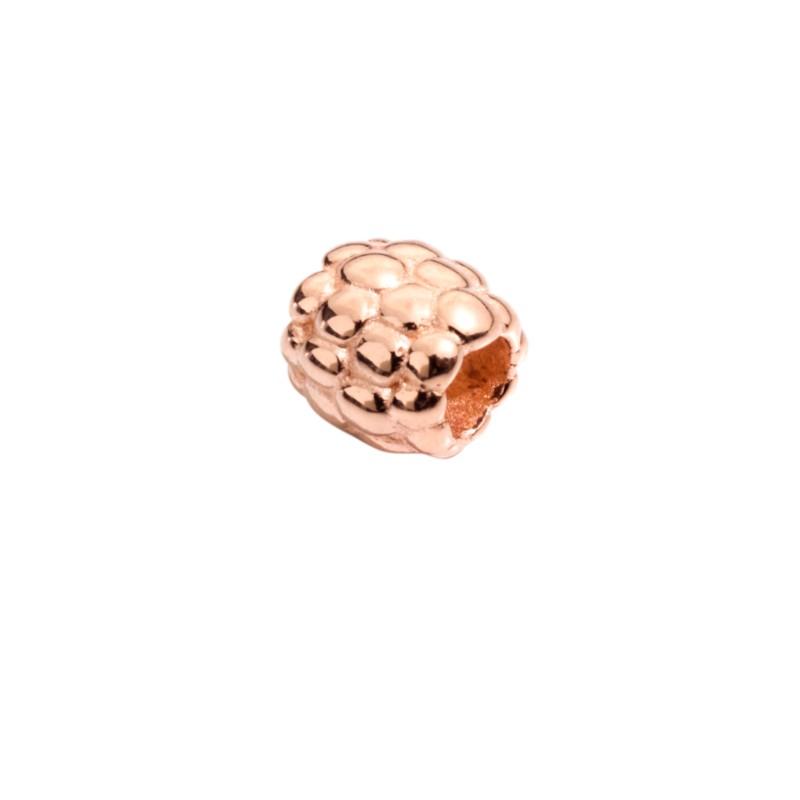 Bead Mora piccola di Queriot Civita, in oro rosa 9 kt. Larghezza 0,7 cm. Made in Italy.
