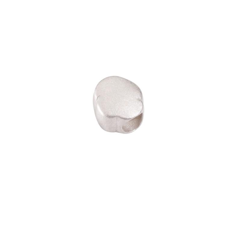 Bead Nuvoletta sabbiata di Queriot Civita, in argento 925 sabbiato