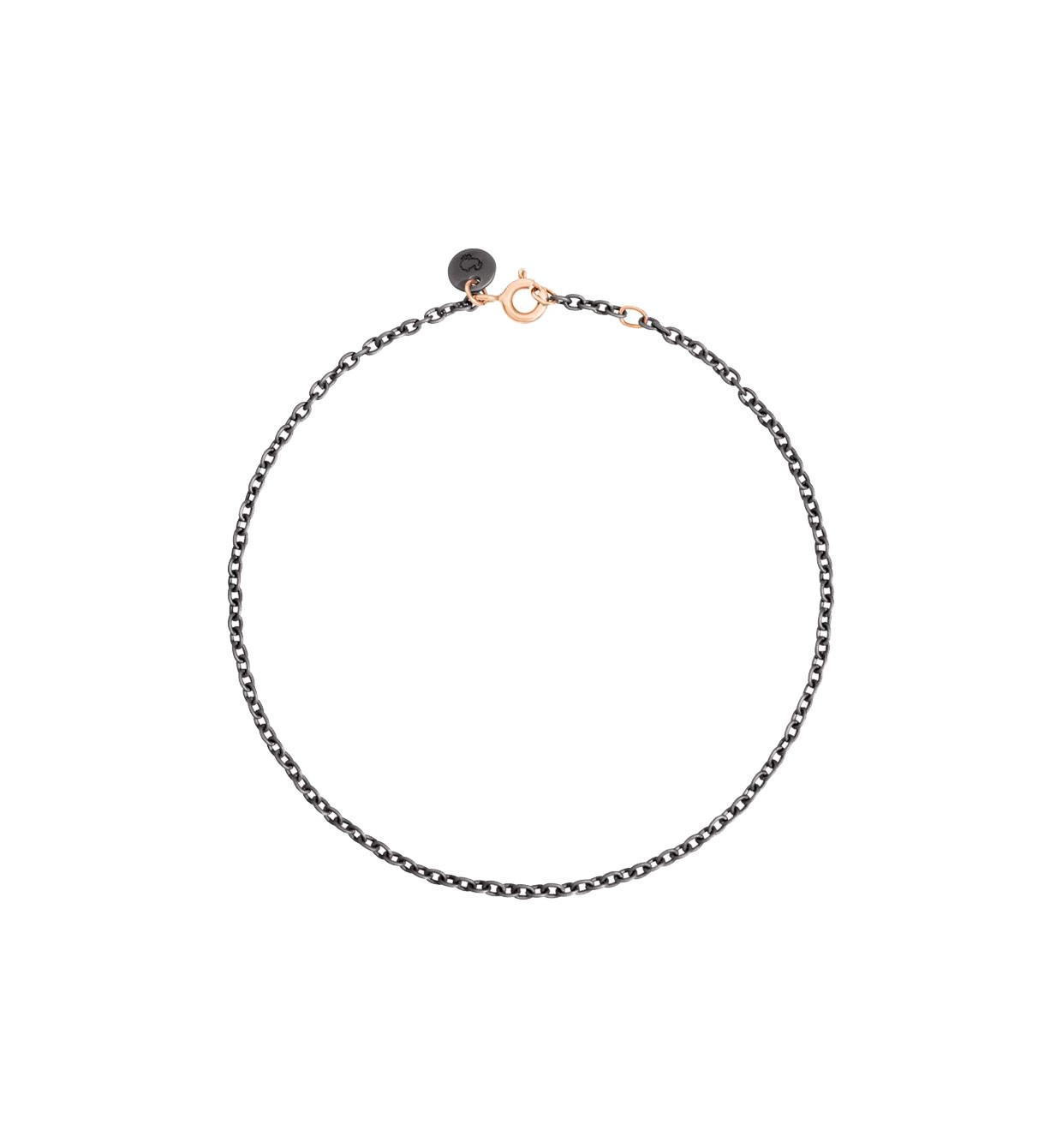 Bracciale in titanio e oro rosa 9kt 19cm