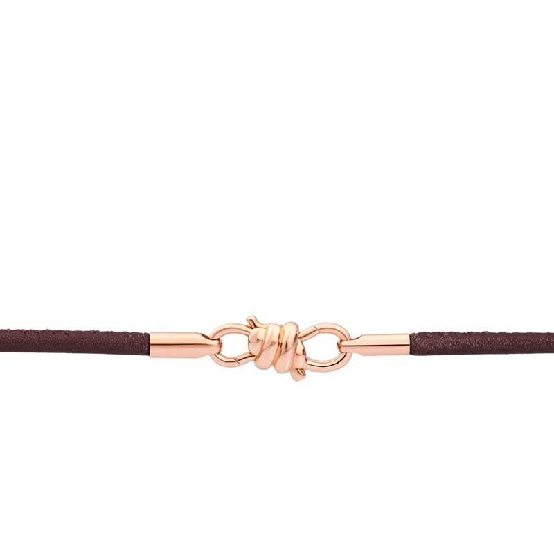 Bracciale Nodo con cinturino in pelle marrone moka