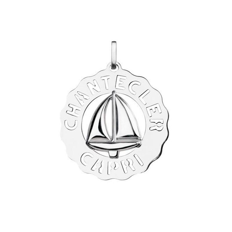 Ciondolo grande Barca in argento 925 della collezione Logo di Chantecler.