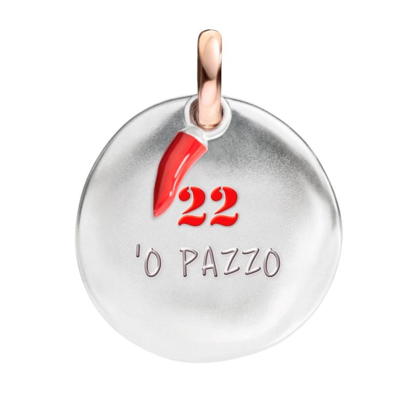 Ciondolo moneta 22 - 'O pazzo della Collezione I Nummeri di Queriot Civita.