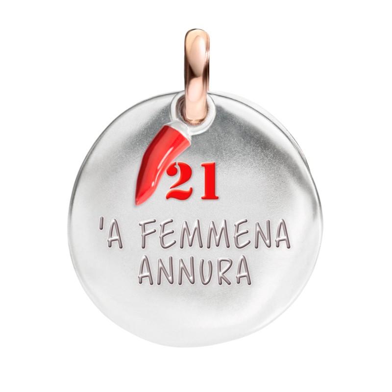Ciondolo moneta 21 - 'A femmena annura della Collezione I Nummeri di Queriot Civita.