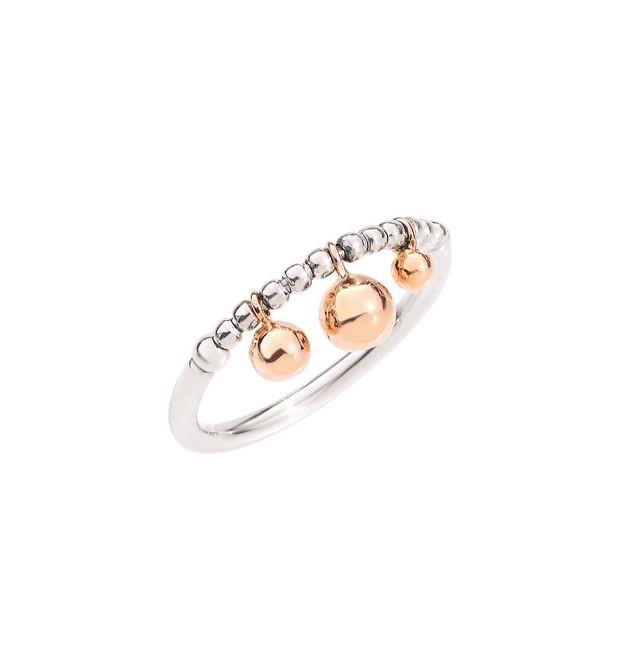 Dodo | Anello Bollicine Argento e Oro Rosa