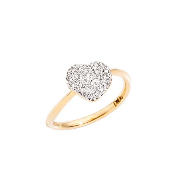 Dodo | Anello Cuore Grande con Diamanti