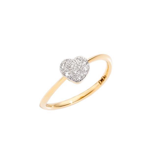 Dodo | Anello Cuore Piccolo con Diamanti