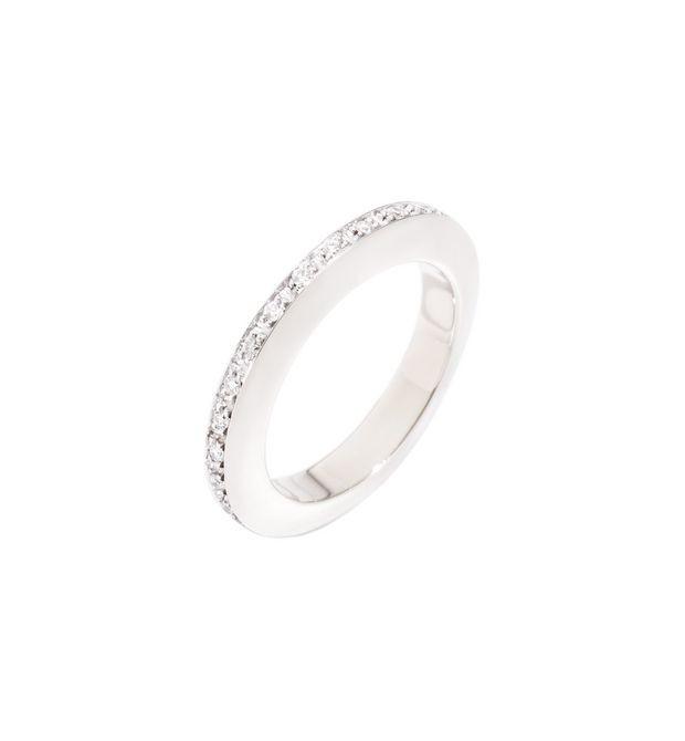Dodo | Anello Disc Oro Bianco e Diamanti