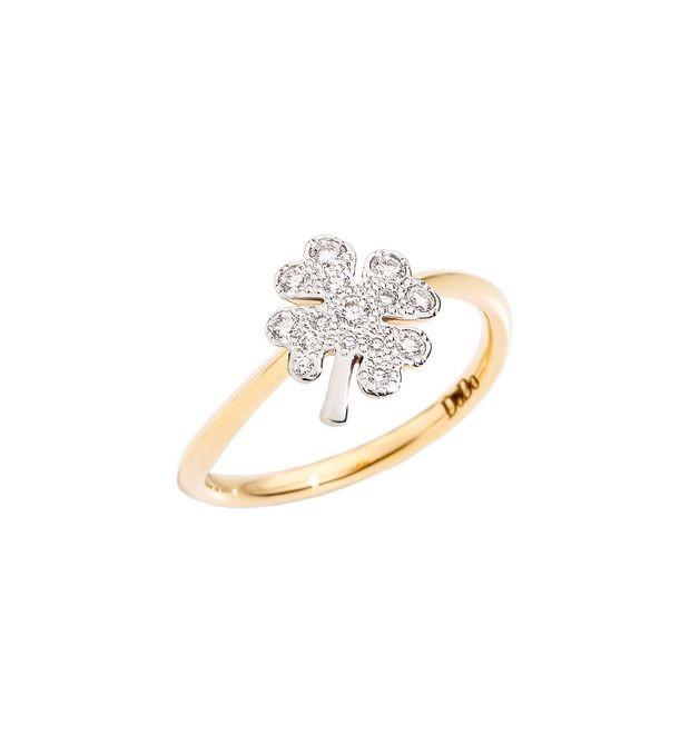 Dodo | Anello Quadrifoglio Grande con Diamanti