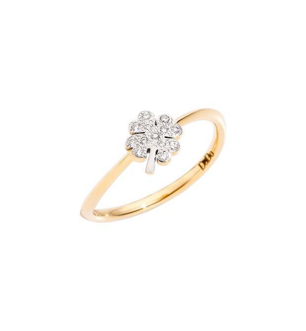Dodo | Anello Quadrifoglio Piccolo con Diamanti
