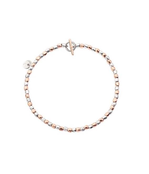 Dodo | Bracciale Mini Granelli Argento e Oro Rosa