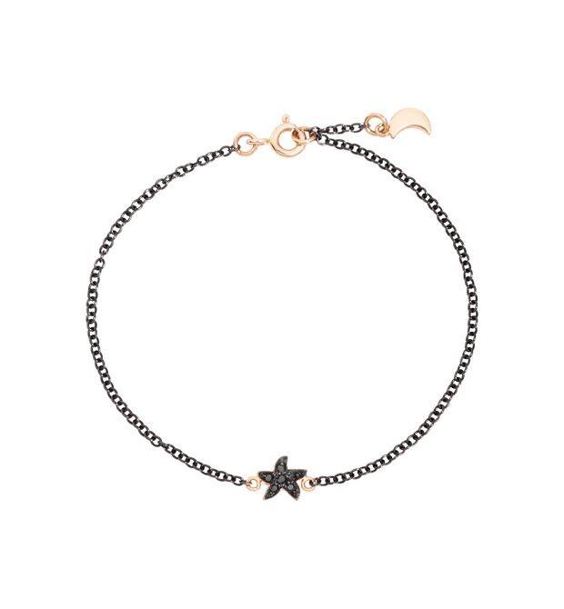 Dodo | Bracciale Stella Luna Diamanti Black
