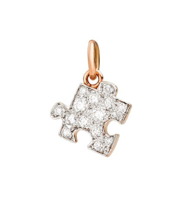 Dodo | Ciondolo Puzzle Diamanti Bianchi Versione Sinistra