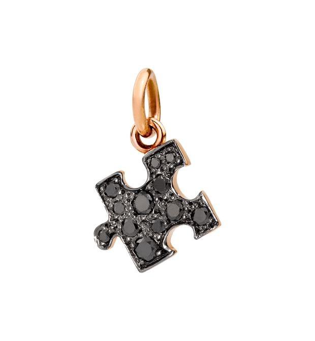 Dodo | Ciondolo Puzzle Diamanti Neri Versione Destra