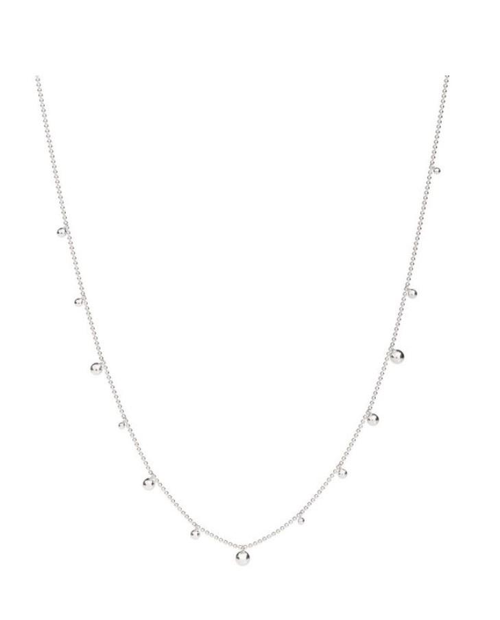 Collana Bollicine in argento con sfere in argento. Misura 60 cm.