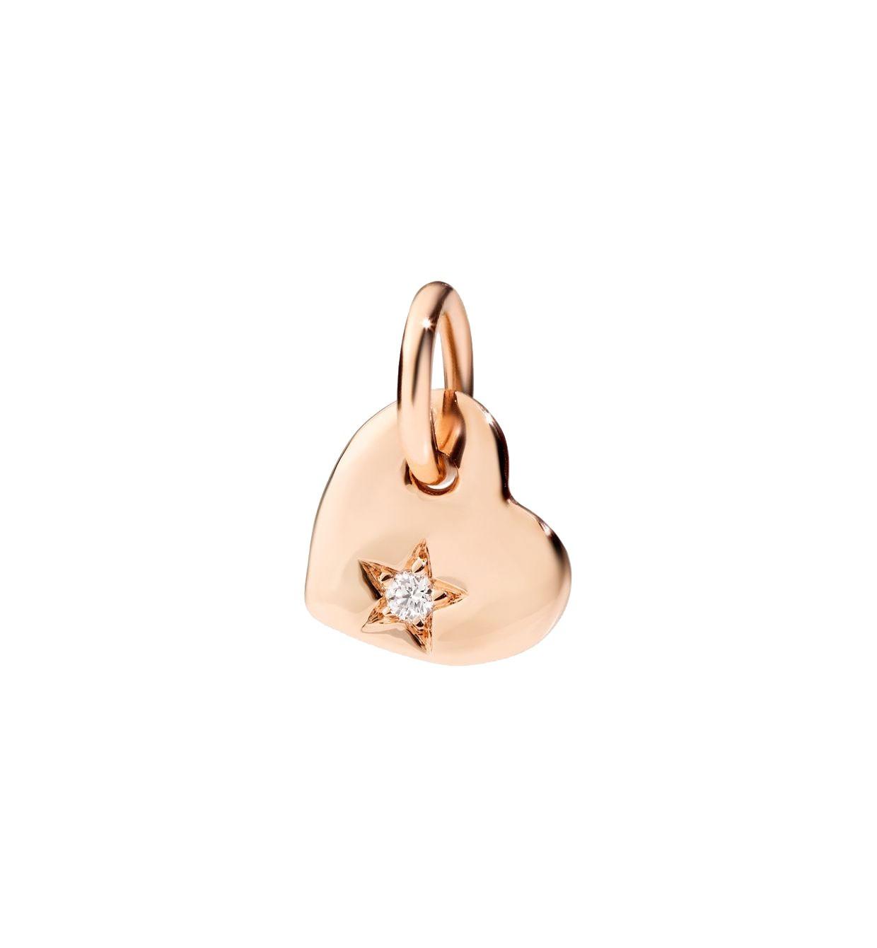 Dodo | Ciondolo Cuore Piccolo Diamante Bianco