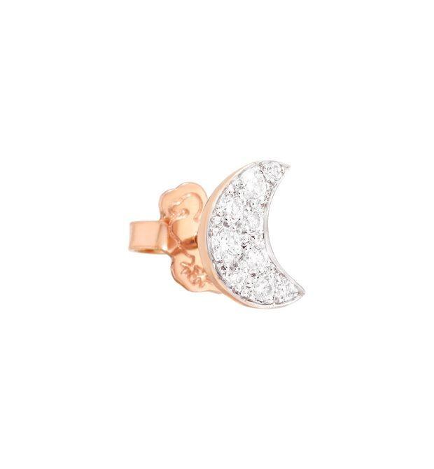 Dodo | Orecchino Luna Oro Rosa e Diamanti