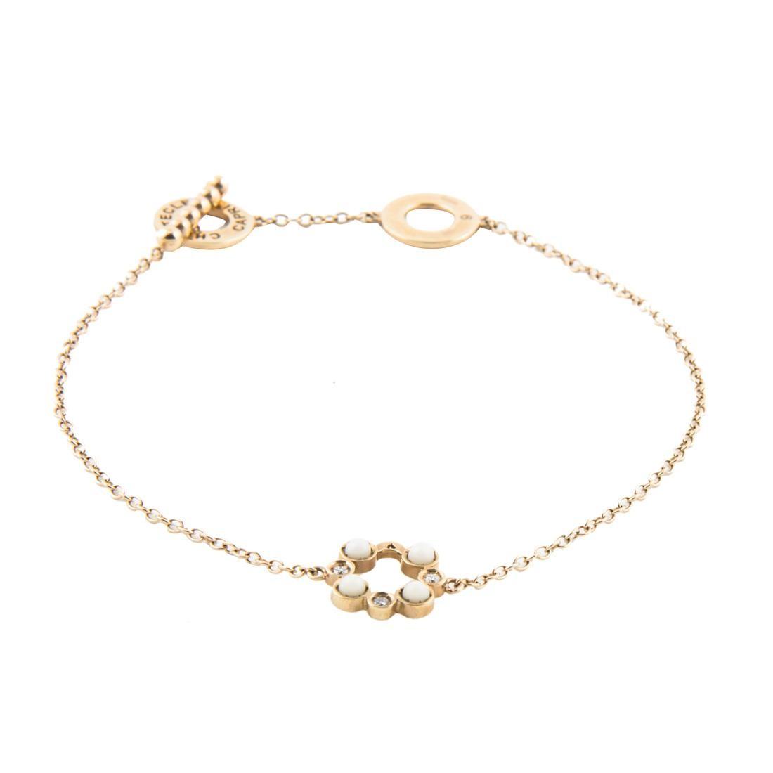 Chantecler | Bracciale Oro Bianco con Corallo Bianco e...