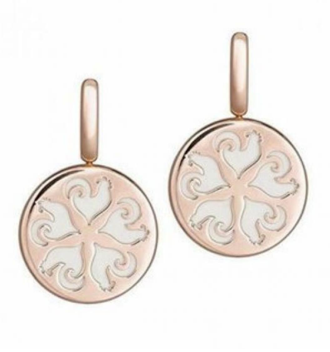 Chantecler | Orecchini Oro Rosa e Resina Bianca